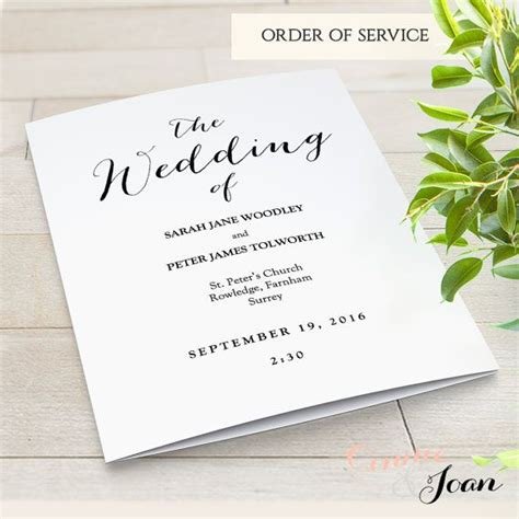order of service wedding template free best 10 order of service template ideas on