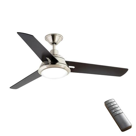 smart ceiling fan home decorators collection gardinier 52 in led brushed