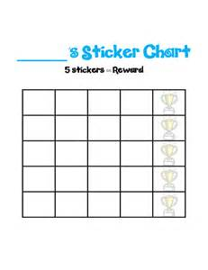 Templates For Stickers by Blank Sticker Chart Template Free