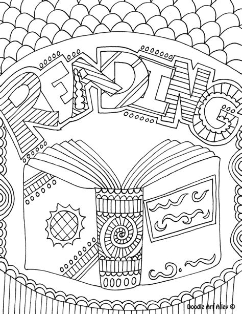 read doodle math coloring page binder cover printable coloring pages