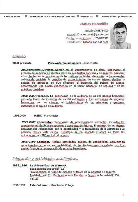 Plantillas De Curriculum Vitae Listas Para Completar En Word Y Lista Para Completar Descargar Plantillas