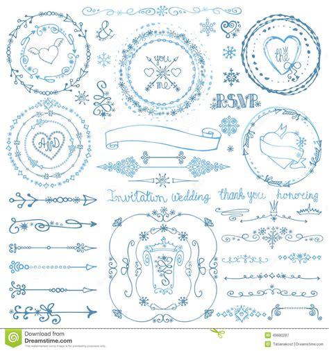 doodlebug winter winter doodle decor set wreath frame border ribbon stock