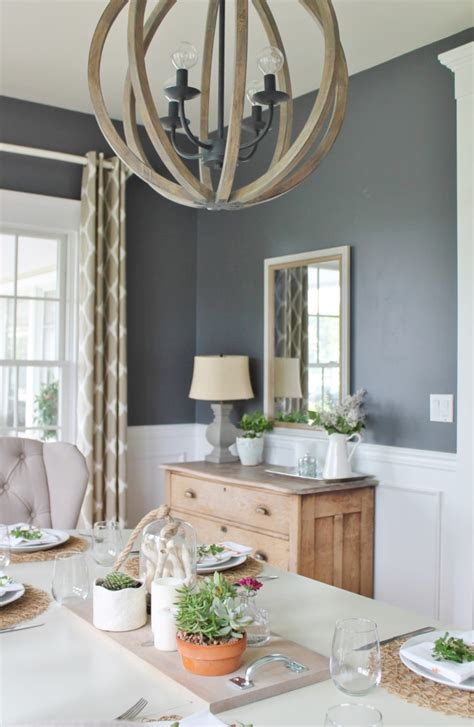 Dining Room Table Summer Centerpieces Summer Tour Dining Room Reveal City Farmhouse