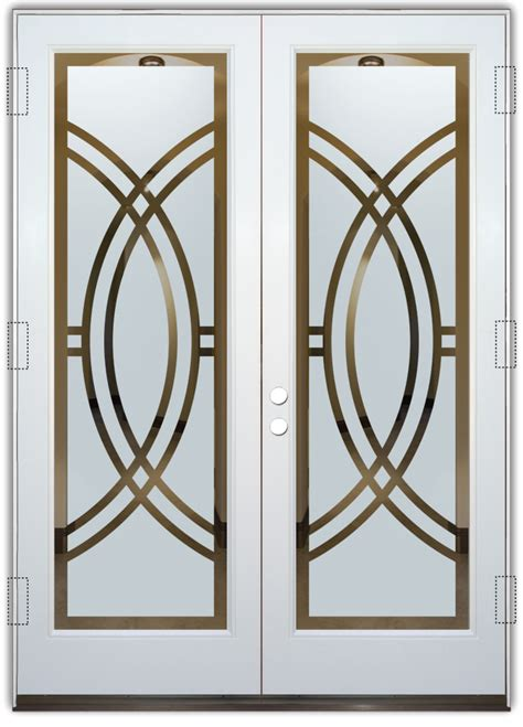 deco front door arcs ii etched glass front doors deco design