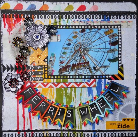Scrapbook Layout Ferris Wheel | 179 best scrapbook layouts state fair amusement park