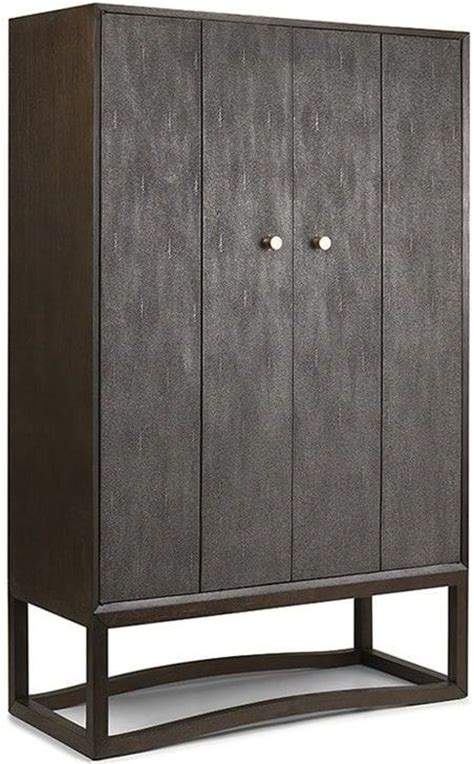Metal Bar Cabinet Viceroy Shagreen And Gun Metal Bar Cabinet Vc400 Brownstone
