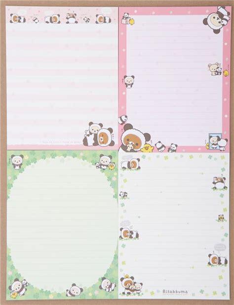 Rillakuma Japan Letter Set pink rilakkuma letter paper set from japan letter