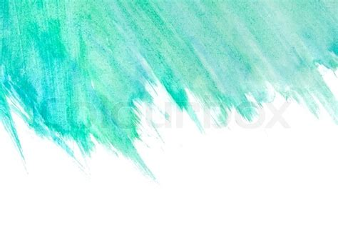 Ocean Blue Paint by Abstract Watercolor Hand Painted Background Stock Photo
