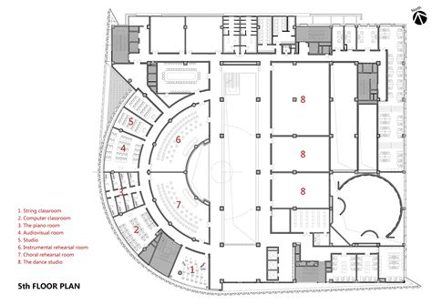 center floor plan gallery of baiyunting culture and center dushe architectural design co 30