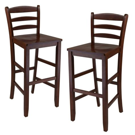 24 Inch Ladder Back Bar Stools by Ladder Back Bar Stools Set Of 2 In Wood Bar Stools