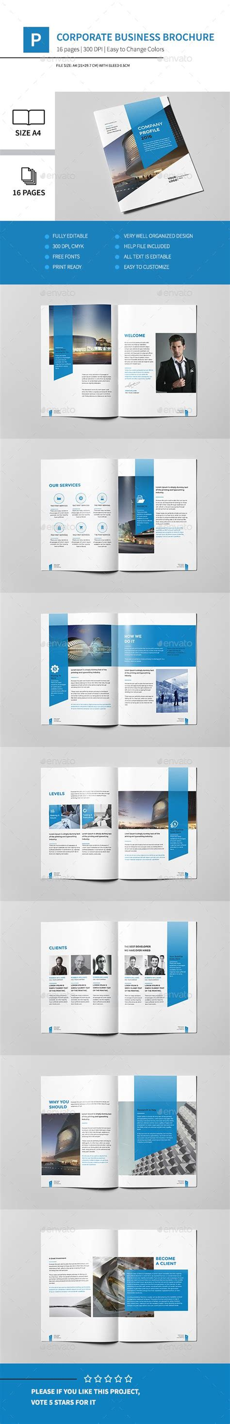 a4 brochure template corporate business brochure 16 pages a4 business
