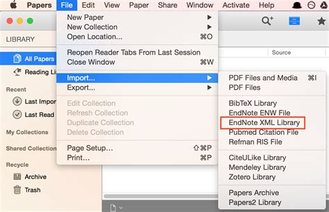 xml on tutorial point how to import your endnote library to papers for mac