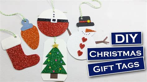 christmas gifts starting with r diy 5 easy tags foam sheet craft diy gift tags
