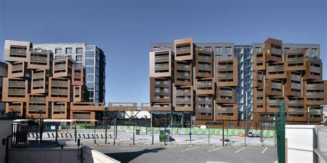 Modular Garage With Apartment paris housing residential buildings e architect