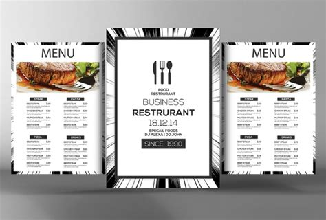 table menu templates for umembeso 187 designtube creative
