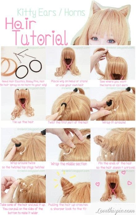 diy hairstyles step by step tumblr diy kitty ears hair tutorial pictures photos and images