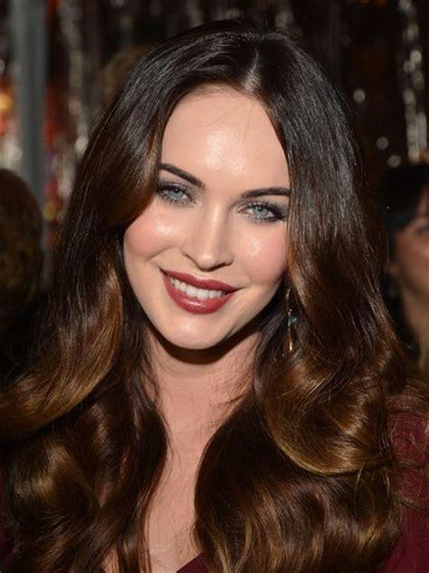 what is megan s true hair color stunning celebrities in brown hair colors best hair