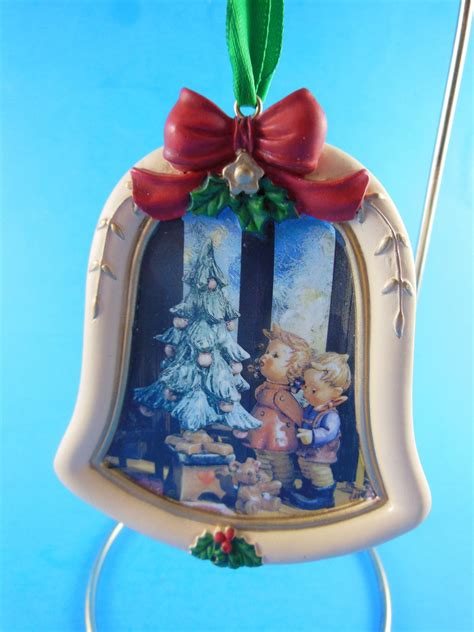 m j hummel wonder of christmas resin bell shaped ornament