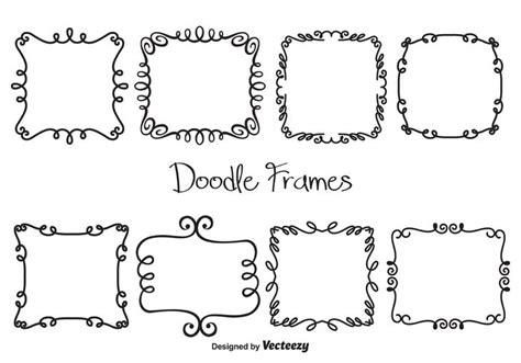 free doodle frame font vector doodle frames free vector stock