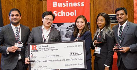 Rutgers Pharma Mba Competition 2017 by On A Winning Streak Time Mba Student Proves His