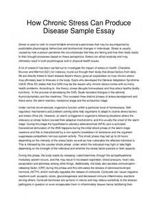 Stress Essay by How Chronic Stress Can Produce Disease Sle Essay