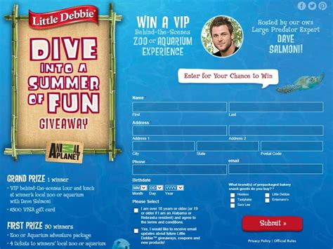 Dive Into Summer Sweepstakes - little debbie animal planet dive into a summer of fun giveaway sweepstakes