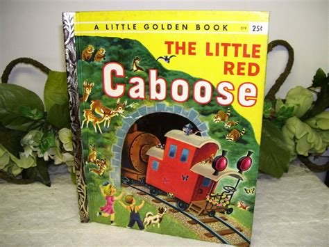 Little Golden Book The Little Red Caboose 1953 Edition C