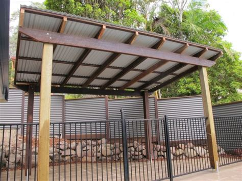 pergola with corrugated metal roof frame colorbond
