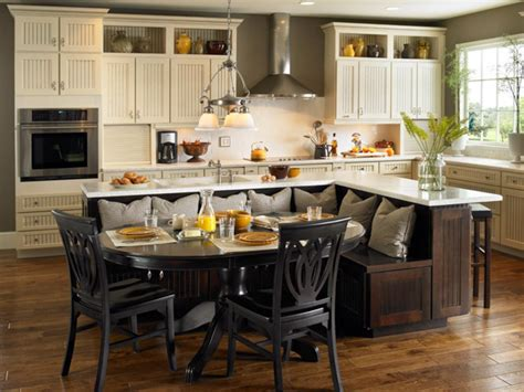 Kitchen Island Table Ideas And Options Hgtv Pictures Hgtv Kitchen Island With Built In Seating