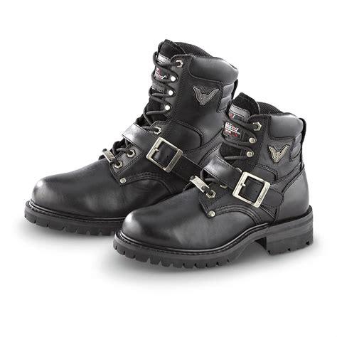 mens buckle biker boots s thorogood 174 lace buckle biker boots black