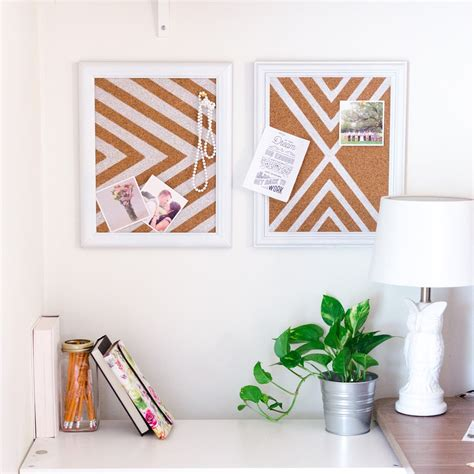 Simple Home Design Tips how to make a cork pinboard for a better organized home