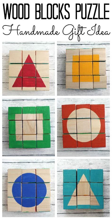 wood blocks puzzle handmade gift idea handmade gifts