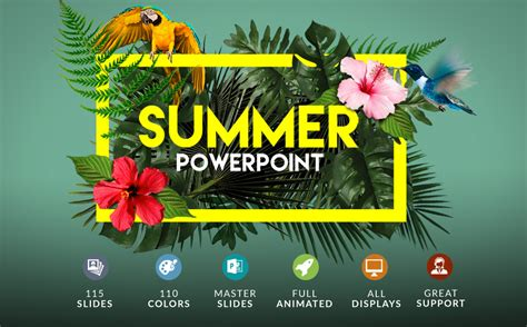 Summer Powerpoint Bonus Powerpoint Template 63396 Summer Powerpoint Template