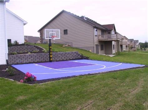 small basketball court in backyard pin by jennifer hodge on landscape outdoor pinterest
