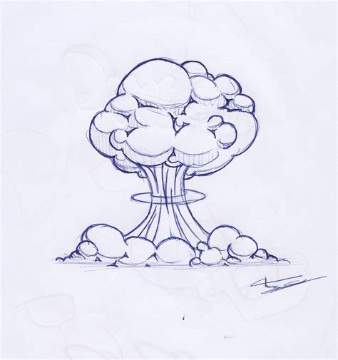 Nuclear Bomb Explosion Drawing Www Imgkid The