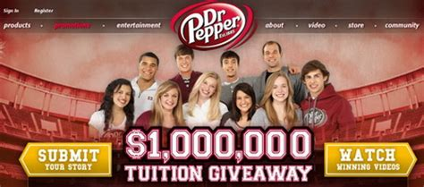 Dr Pepper Million Dollar Tuition Giveaway Cotton Bowl Contest - dr pepper continues its million dollar tuition giveaway initiative popsop