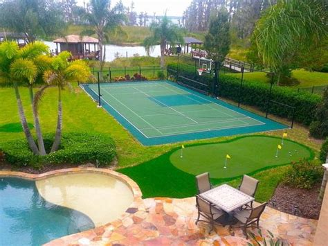 Build A Guest House In Backyard Backyard Basketball Court Ideas To Help Your Family Become