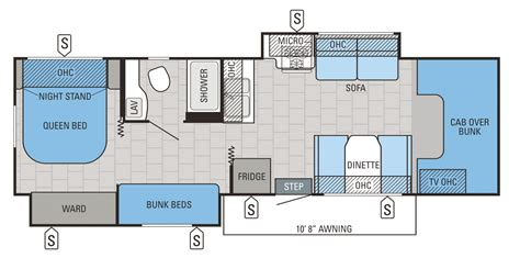 nexus rv floor plans class c motorhome with bunk beds triple bunk made from garage shelving from bunnings mattresses