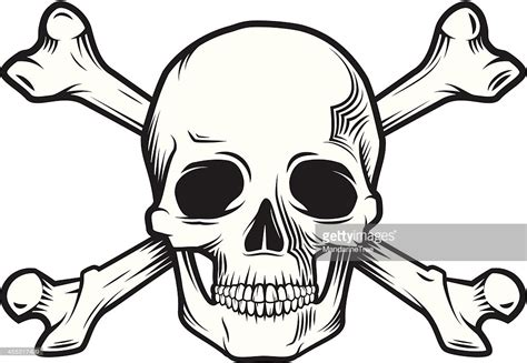 skull and bones vector art getty images