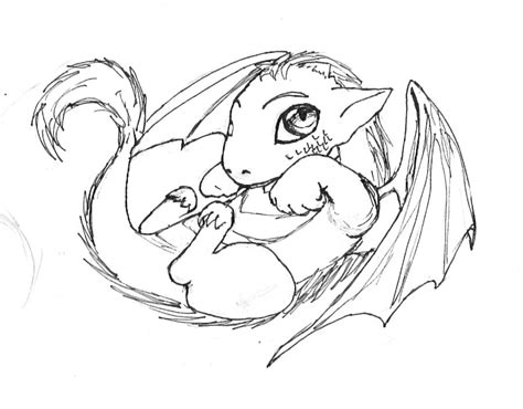 coloring pictures of baby dragons baby dragon by nihil01lin on deviantart