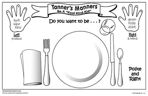 56 Table Manners Ppt For Kids Table Manners Quotes Quotesgram Warehousemold Com Montessori Placemat Template