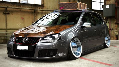 volkswagen modified volkswagen polo gti 2014 modified wallpaper 1366x768