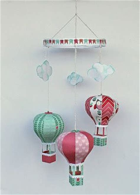 17 Best Images About Baby On Pinterest Cards Rocking Horses And Favor Boxes Air Balloon Mobile Template