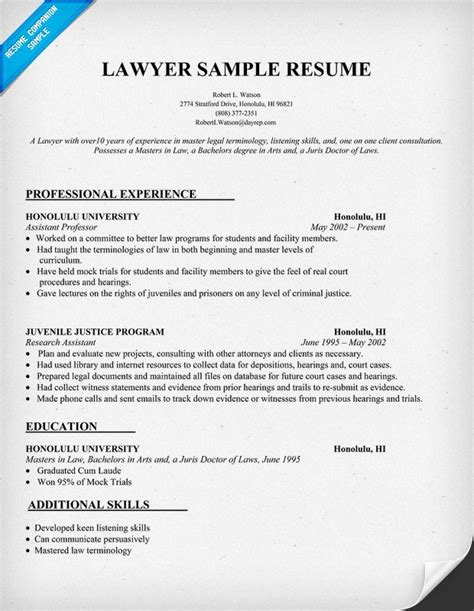 tax attorney sle resume tax lawyer cover letter tax