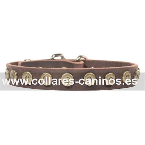 cadenas de lujo para perros collar de lujo con remaches de laton 25 mm de ancho