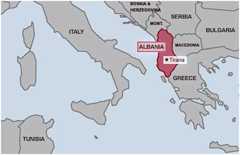 where is albania on the map albania maps