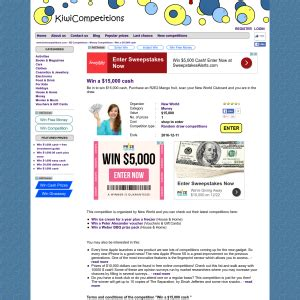 Nz Competitions Win Money - competitions online new zealand s new home for competitions competitions co nz