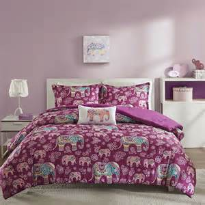 beautiful modern chic purple pink teal blue elephant