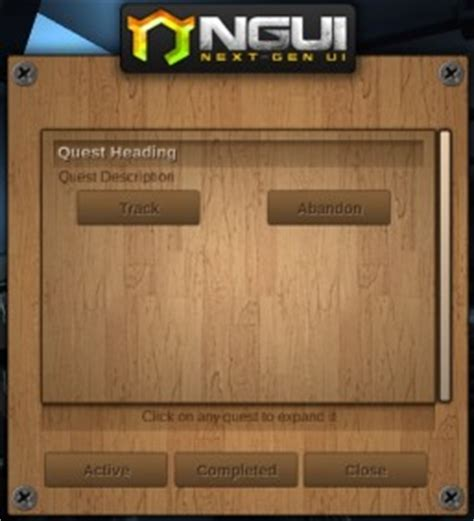 Unity Ngui Layout | dialogue system for unity ngui quest log window