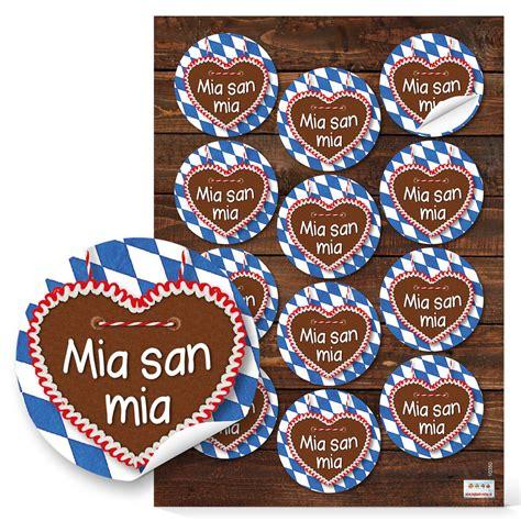 Aufkleber Name Mia by Sticker Aufkleber Bayern Quot Mia San Mia Quot Rund 6 Cm